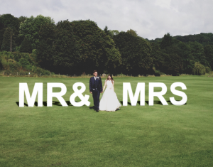 mr&mrs sign smaller