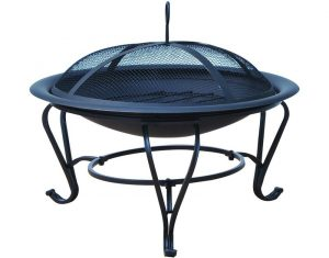 Round+Mesh+Lid+Garden+Stove+Patio+Brazier+Metal+Wood+Fire+Pit