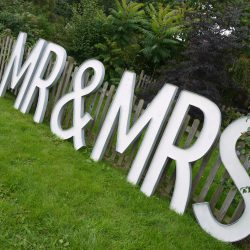 Light Up Mr & Mrs Letters