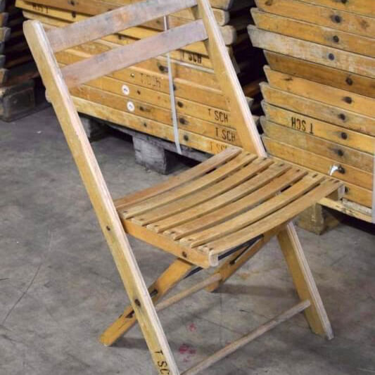 Swell Vintage Wooden Folding Chair Pabps2019 Chair Design Images Pabps2019Com